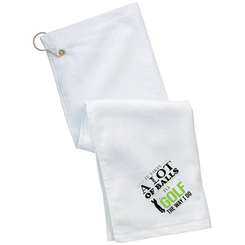 It Takes A lot Of Balls Funny Golf  Towel