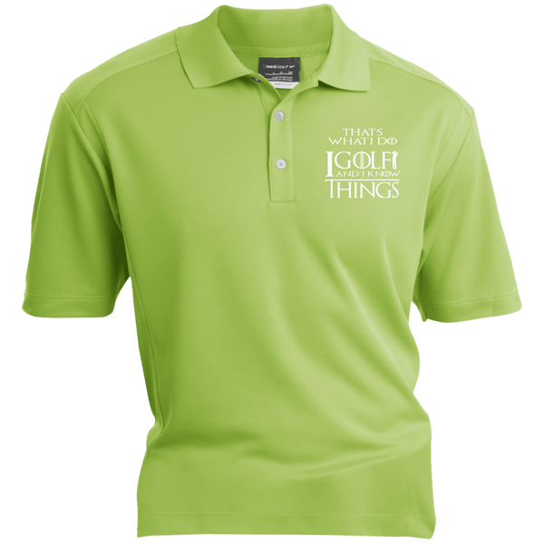 I Golf And I Know Things - Embroidered Nike® Dri-Fit Polo Shirt Green