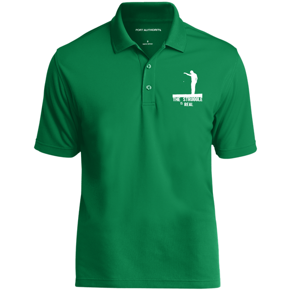 The Struggle Is Real- Port Authority Dry Zone UV Micro-Mesh Polo Green