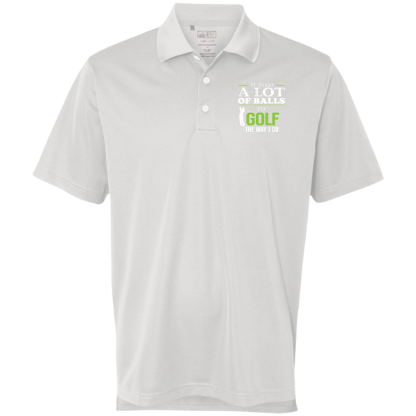 It Takes A lot Of Balls - Adidas Golf ClimaLite Polo White