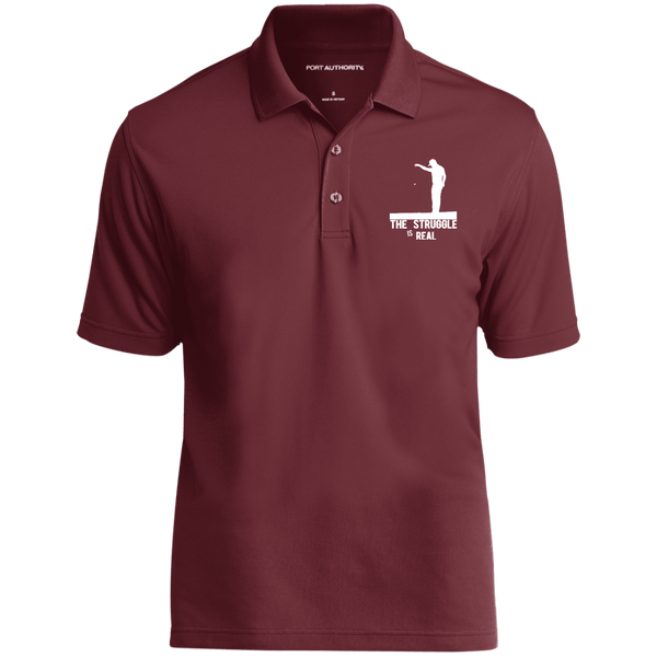 The Struggle Is Real- Port Authority Dry Zone UV Micro-Mesh Polo maroon