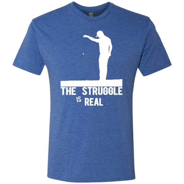 The Struggle Is Real - Triblend Golf T-Shirt