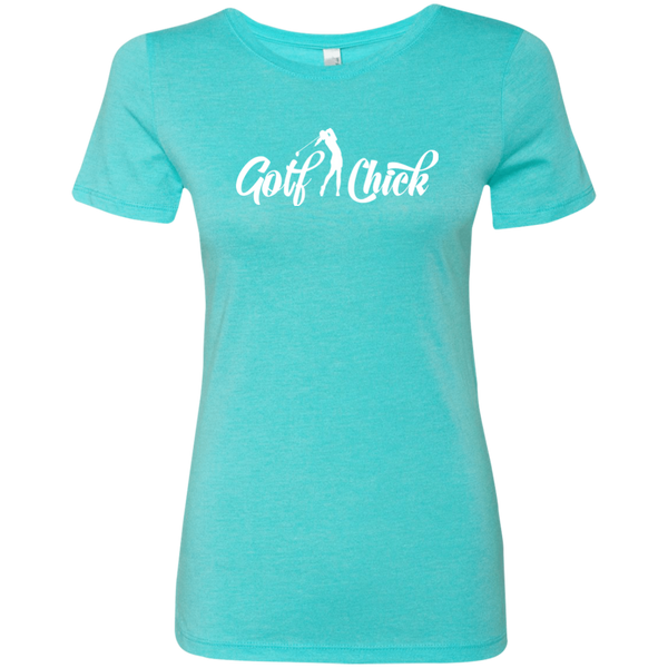 Golf Chick- white - Ladies' Tri-blend T-Shirt