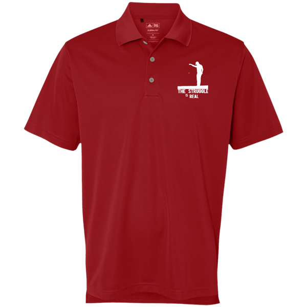 Struggle Is Real - Adidas Golf ClimaLite Basic Performance Pique Polo red