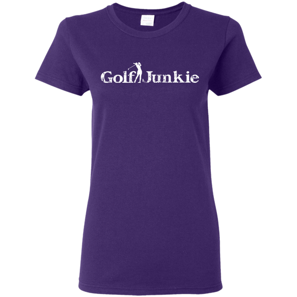 golf junkie women's golf t-shirt purple
