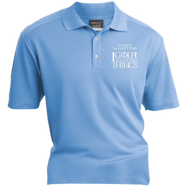 I Golf And I Know Things - Embroidered Nike® Dri-Fit Polo Shirt Light Blue