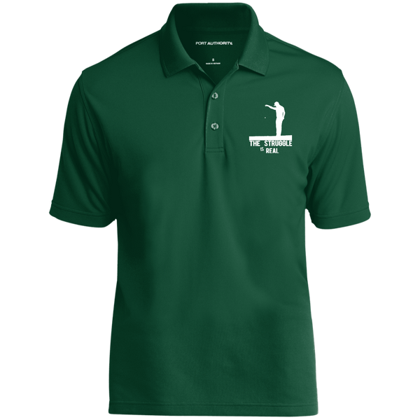The Struggle Is Real- Port Authority Dry Zone UV Micro-Mesh Polo Dark Green