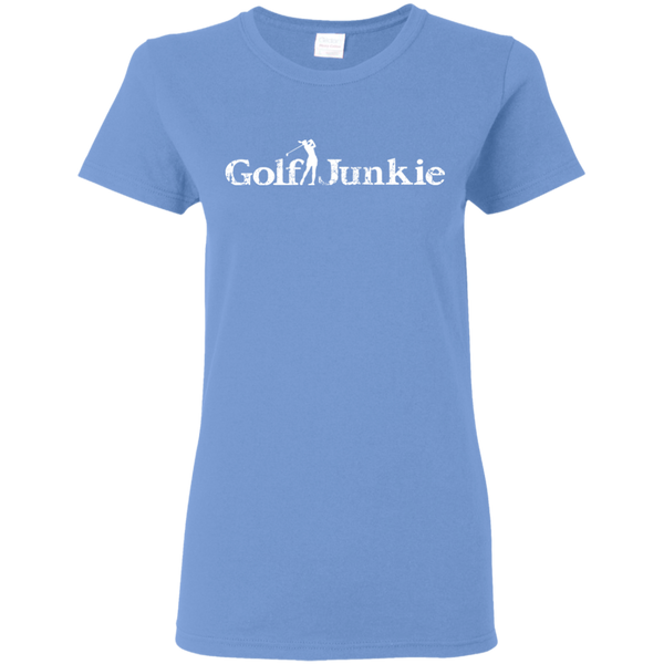 golf junkie women's golf t-shirt light blue