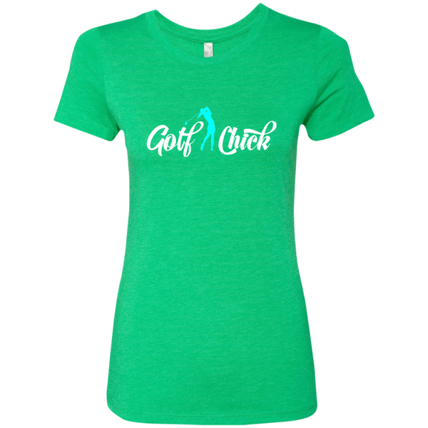 Golf Chick- light blue - Ladies' Tri-blend T-Shirt