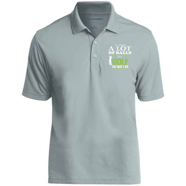 It Takes A Lot Of Balls To Golf The Way I Do - Embroidered Dry Zone UV Micro-Mesh Polo