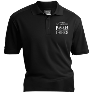 I Golf And I Know Things - Embroidered Nike® Dri-Fit Polo Shirt Black