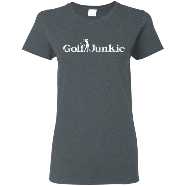 golf junkie women's golf t-shirt heather grey