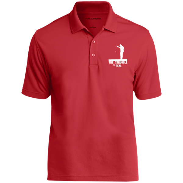 The Struggle Is Real- Port Authority Dry Zone UV Micro-Mesh Polo Red