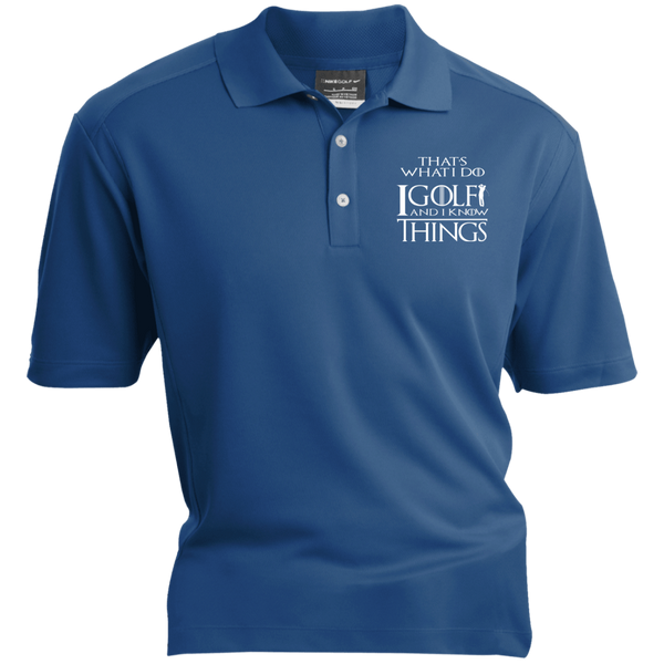 I Golf And I Know Things - Embroidered Nike® Dri-Fit Polo Shirt Blue