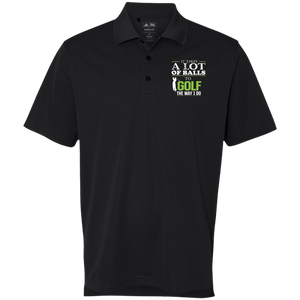 It Takes A lot Of Balls - Adidas Golf ClimaLite Polo Black Shirt