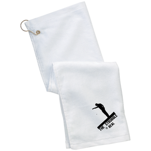 The Struggle Is Real - Embroidered Grommeted Golf Towel