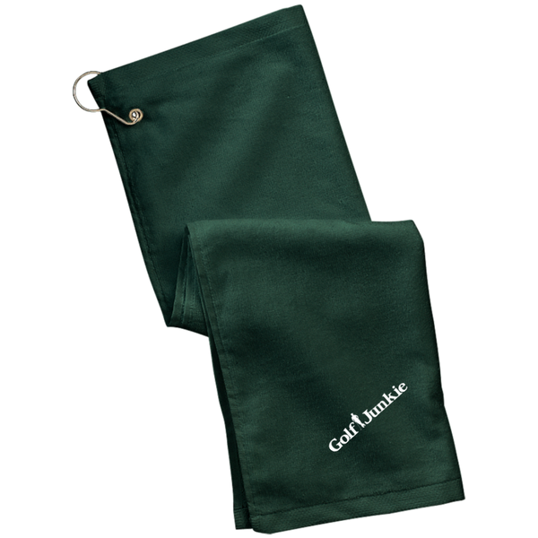 Golf Junkie  Grommeted Golf Towel