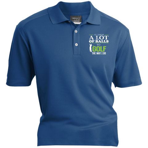 It Takes A Lot Of Balls To Golf The Way I Do - Blue Nike® Dri-Fit Polo Shirt