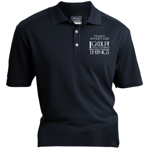I Golf And I Know Things - Embroidered Nike® Dri-Fit Polo Shirt Navy Blue