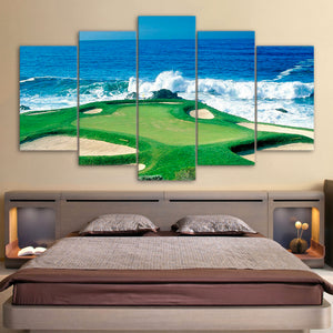Golf Art Wall Decor 5 piece Ocean View
