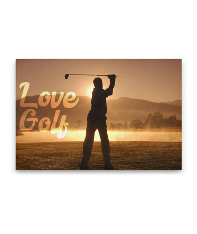 Love Golf - Golf Art Canvas Golf Art