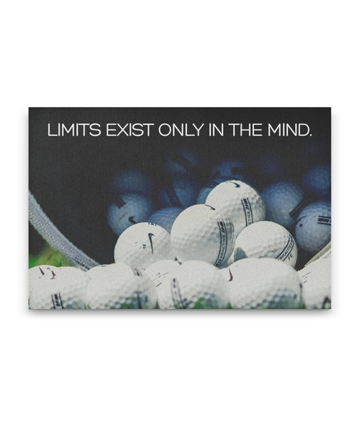 Limits Exist Only In The Mind - Golf Canvas Art -Wall Decor