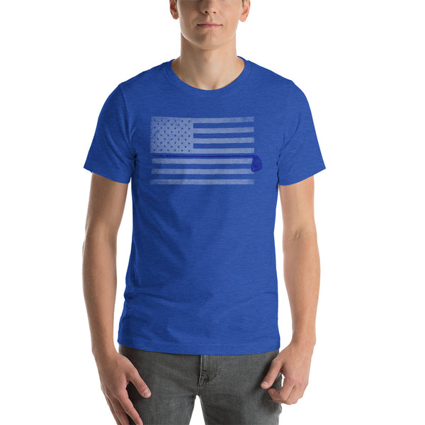 American Flag Blue - Golf T-shirt