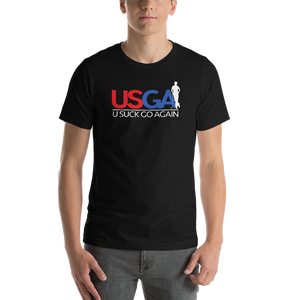USGA - U Suck Go Again - Funny Golf T-shirt