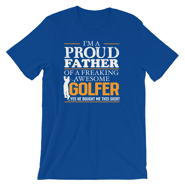 Proud Dad Funny Golf T-shirt