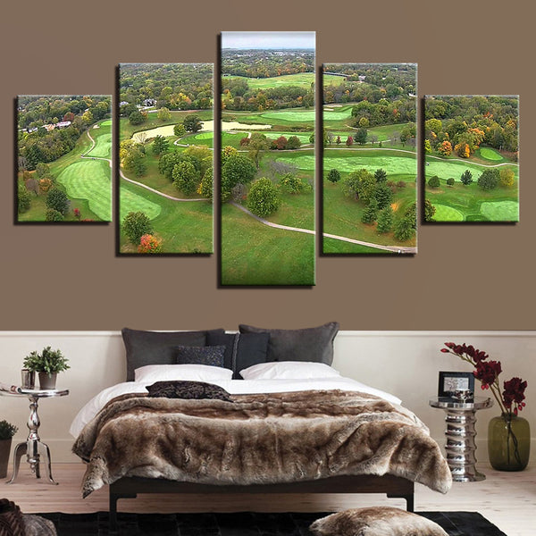 Golf Course Canvas Art Wall Decor Of Aerial View