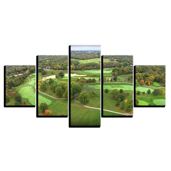 Golf Wall Decor Of Golf Course Aerial View