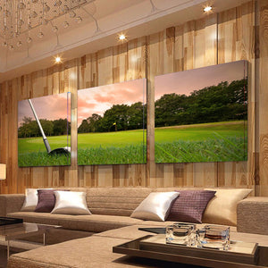Golf Art Wall Print Of Chipping Around The Green