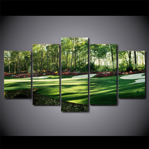 5 piece golf canvas art