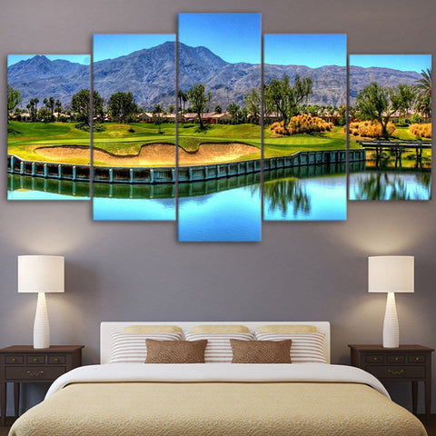Golf Art Wall Decor 5 peice