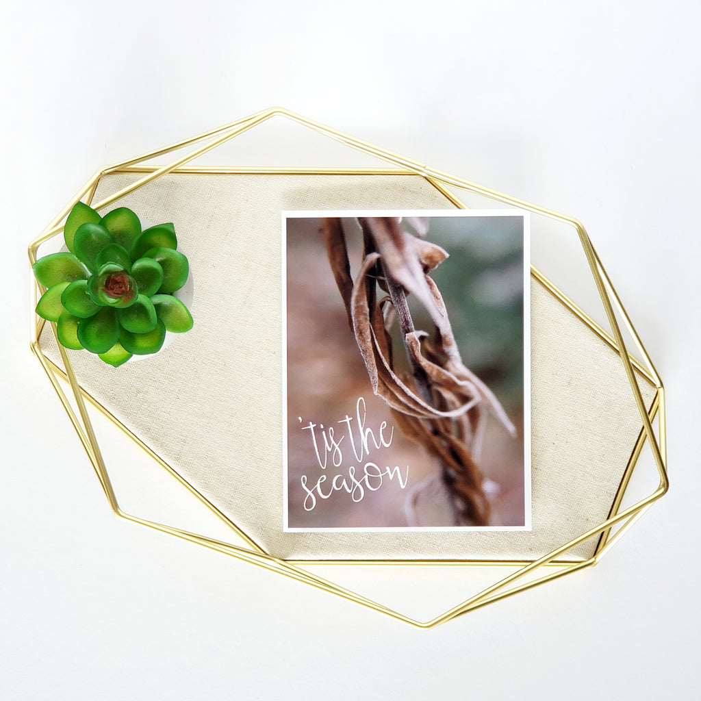 Frozen Vine Greeting Card
