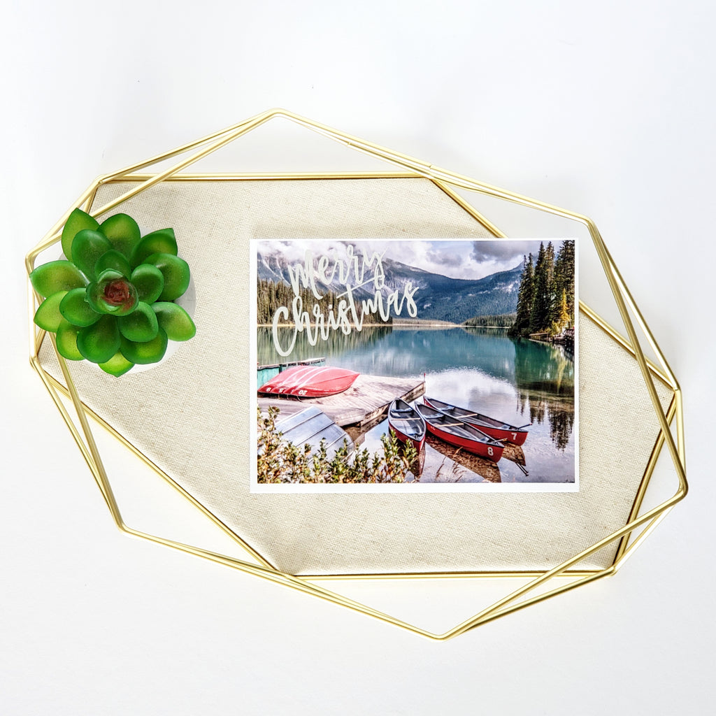 Merry Christmas Greeting Card (Emerald Lake)
