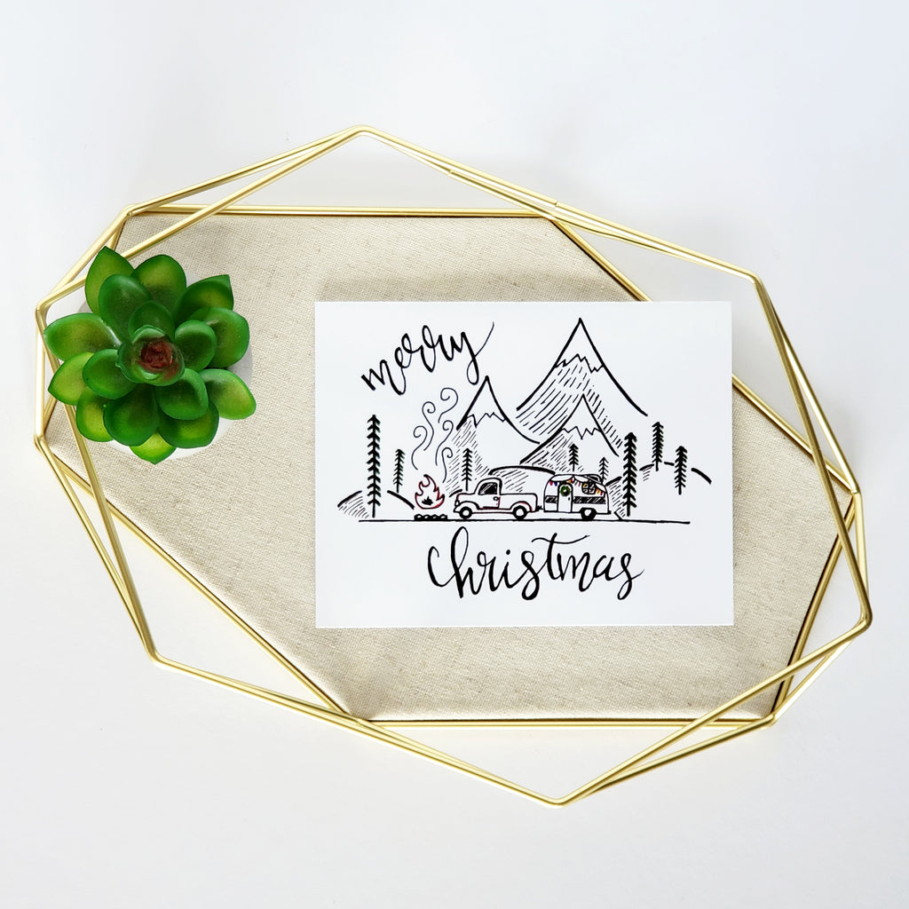 Merry Christmas Truck & Boler Greeting Card
