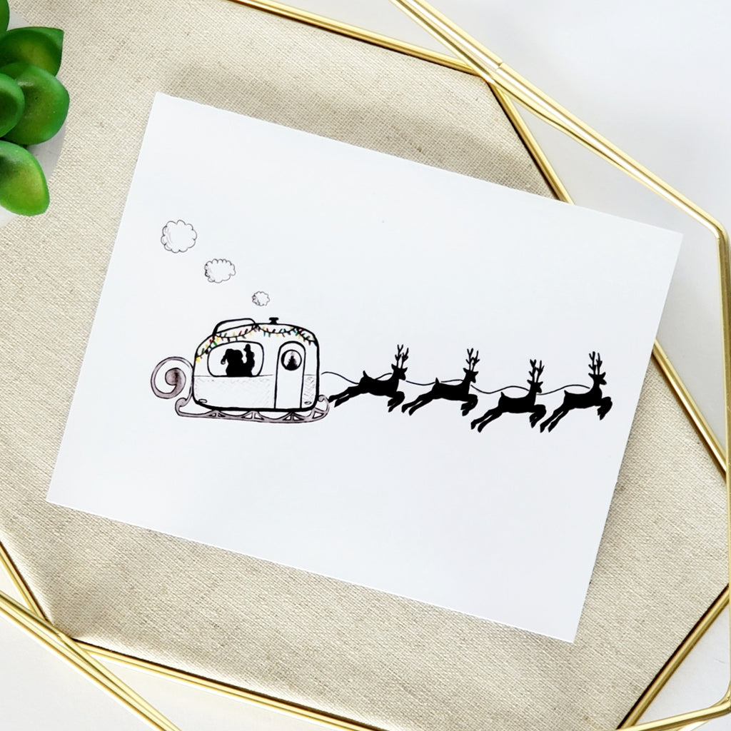 Boler Sleigh Greeting Card