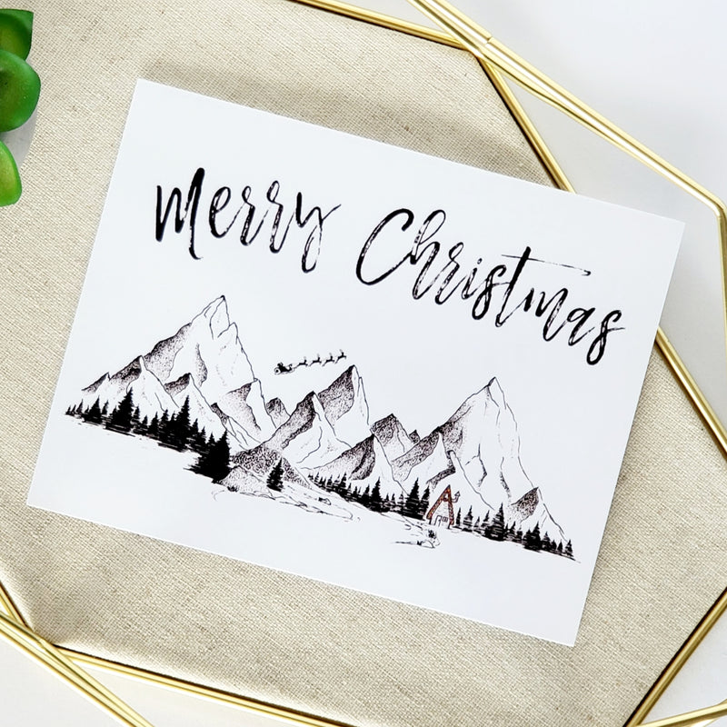 Merry Christmas Cabin Greeting Card