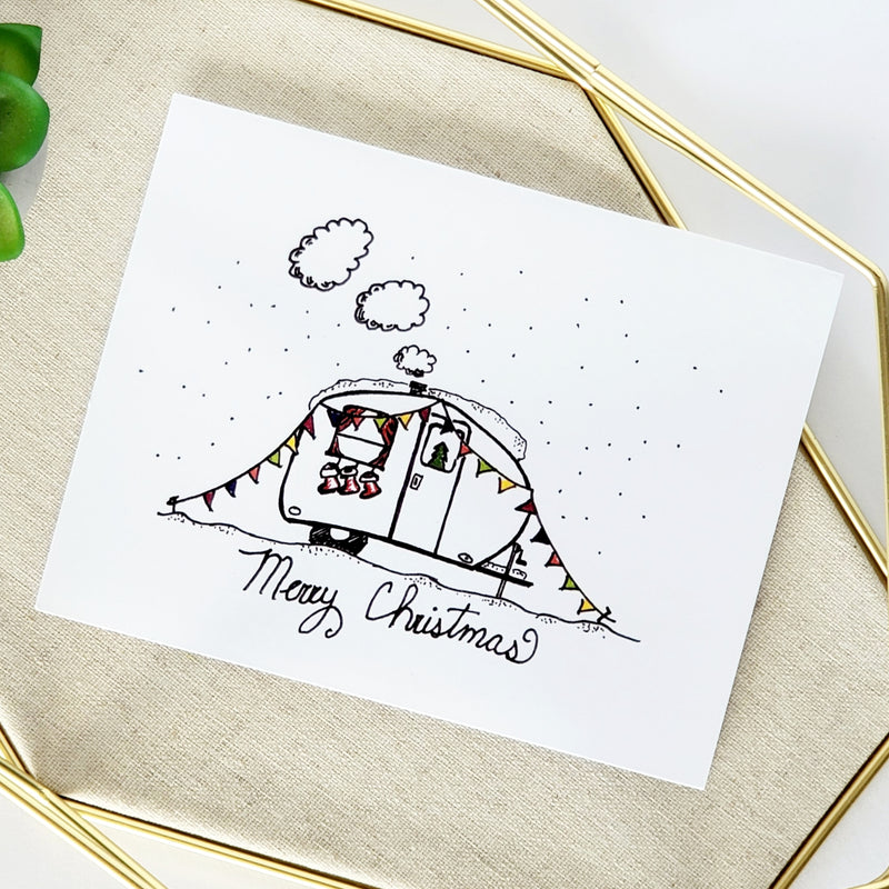 Merry Christmas Boler Greeting Card