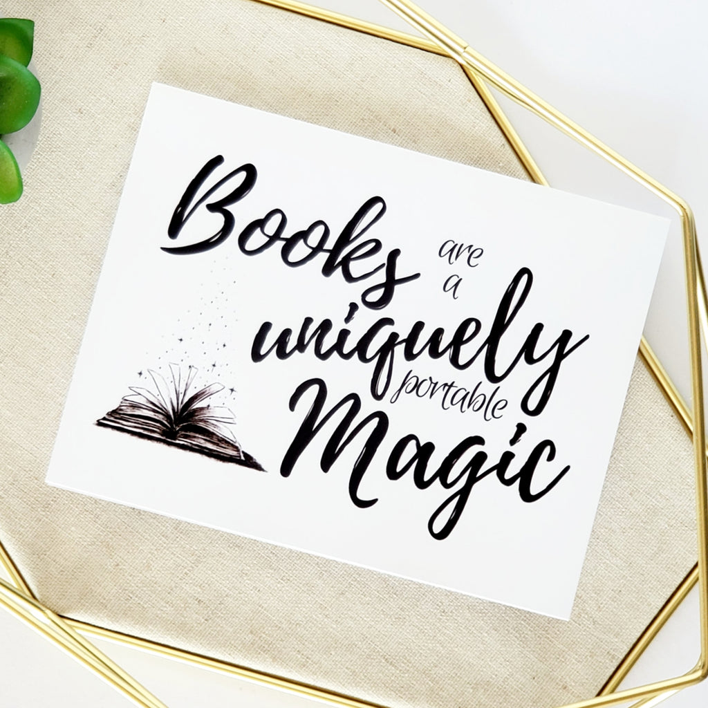 Books Are Magic Greeting Card