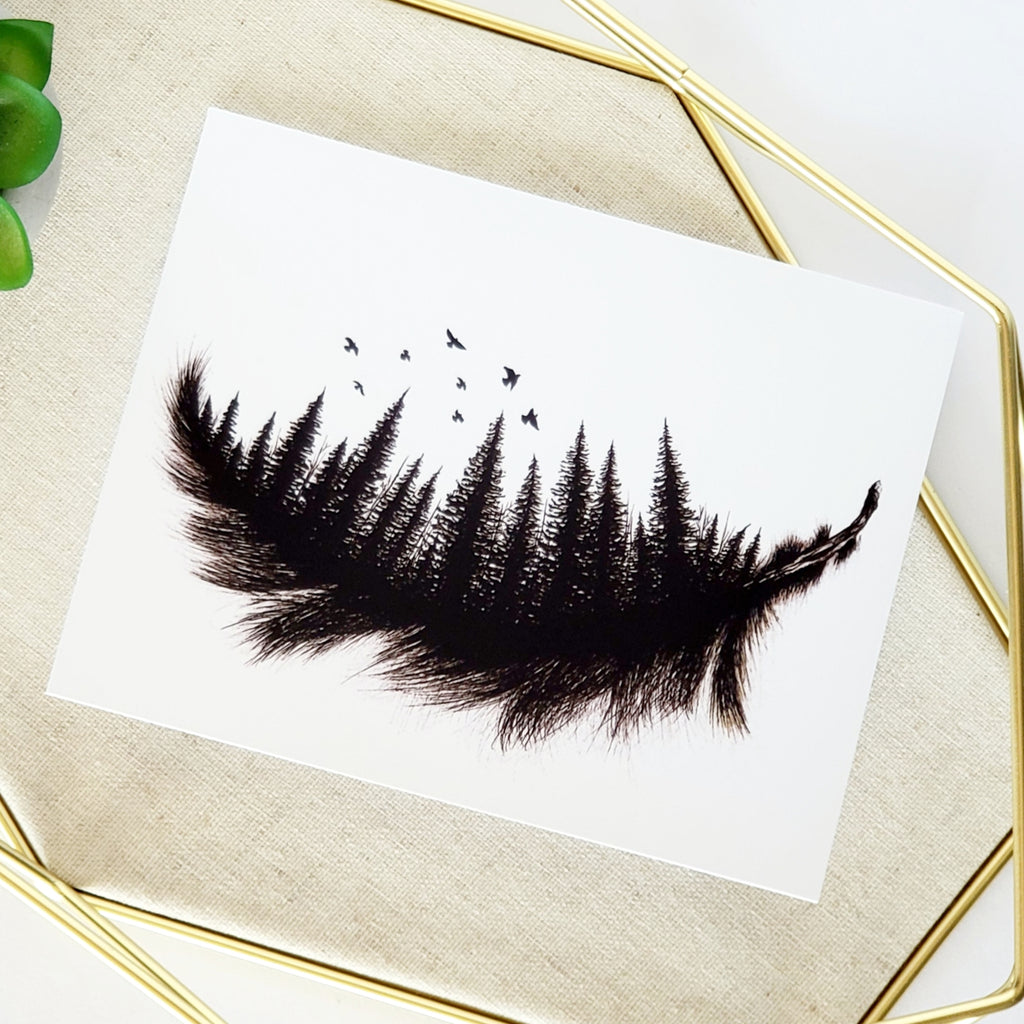 Forest Feather Greeting Card