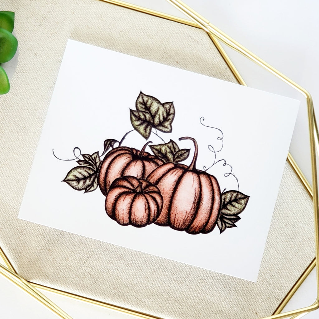 Harvest Pumpkin Greeting Card
