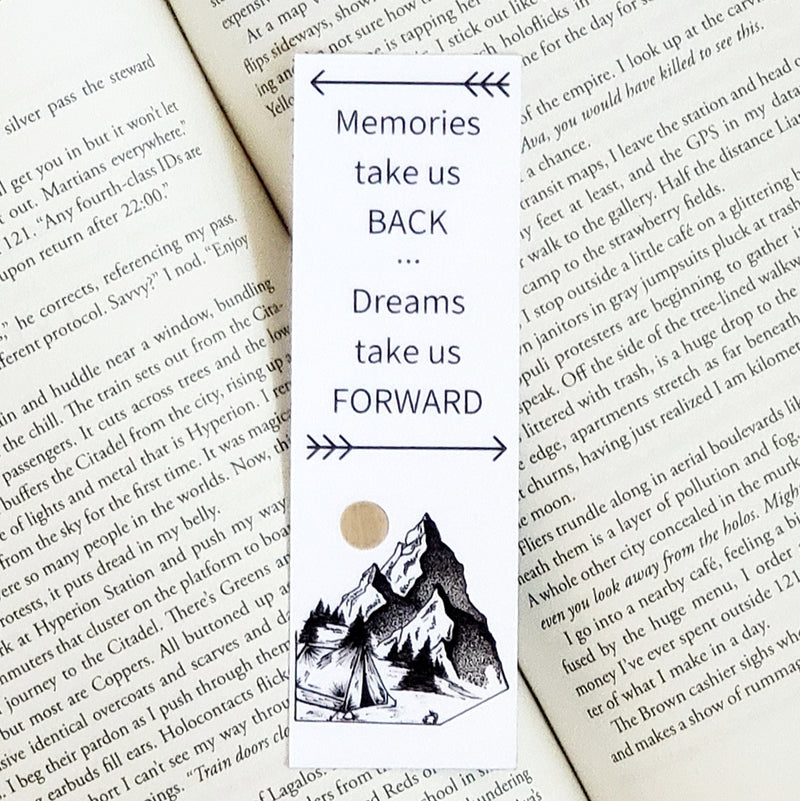 Camping under the Large Moon Bookmark