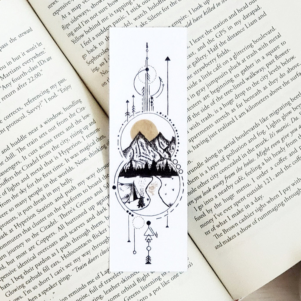 Geometric Camping Bookmark