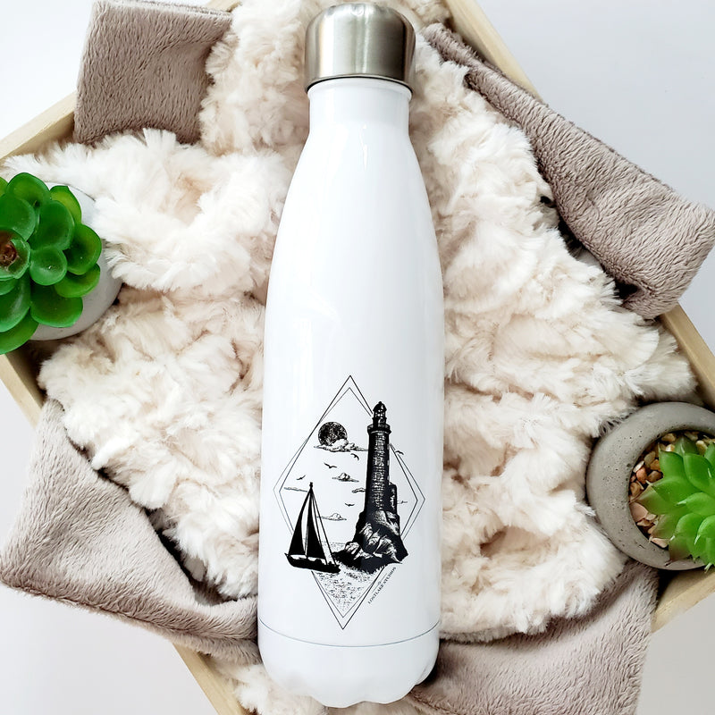 Lighthouse & Sailboat Water Bottle