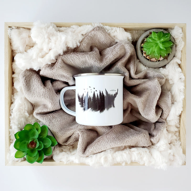 Forest Feather Camping Mug