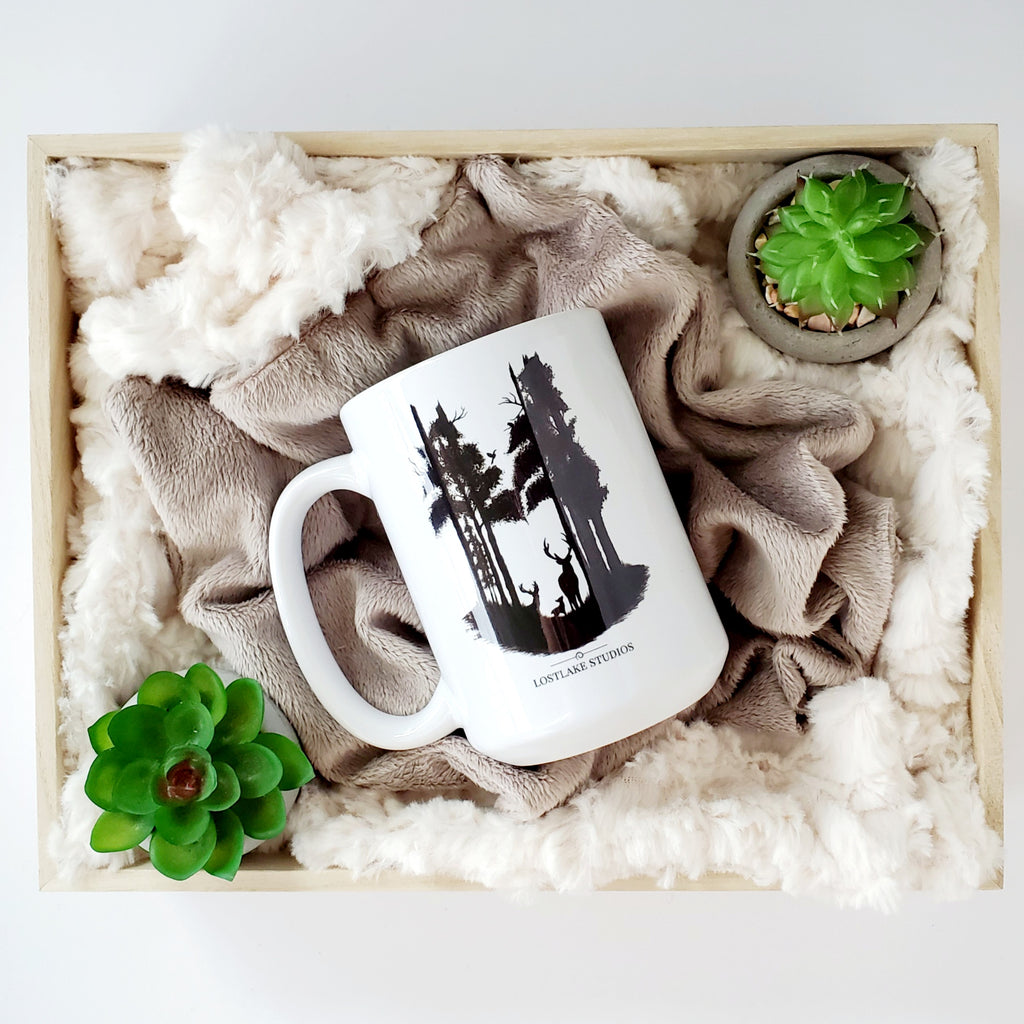 Deer in the Forest Ceramic Mug