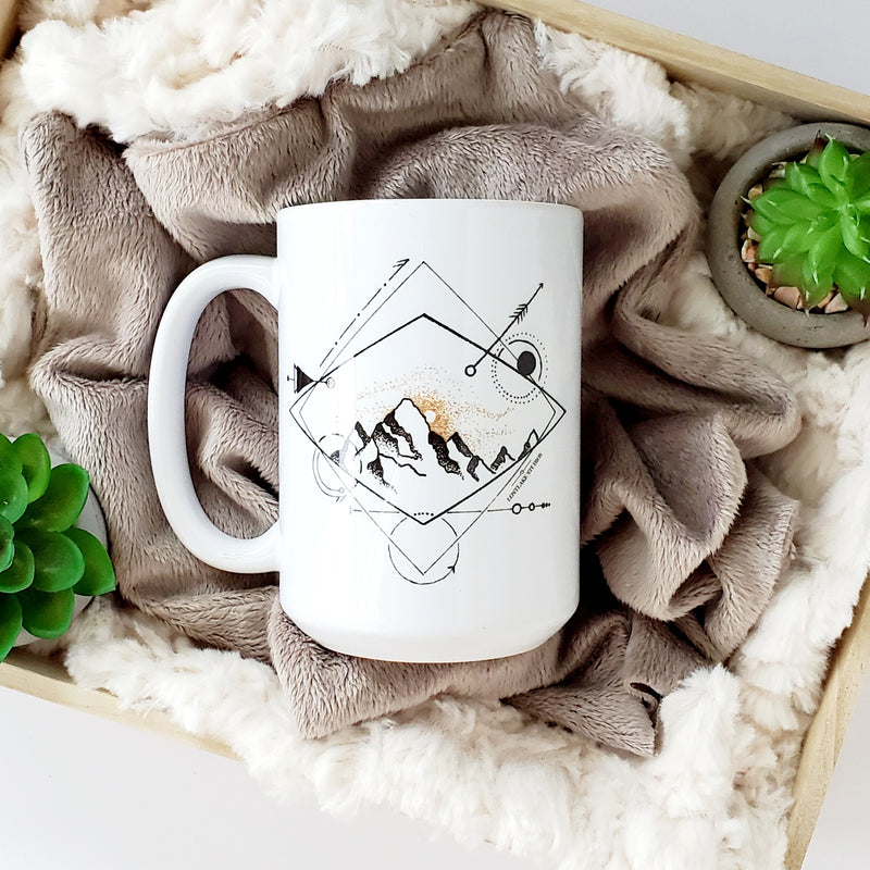 Diamond Mountain Ceramic Mug