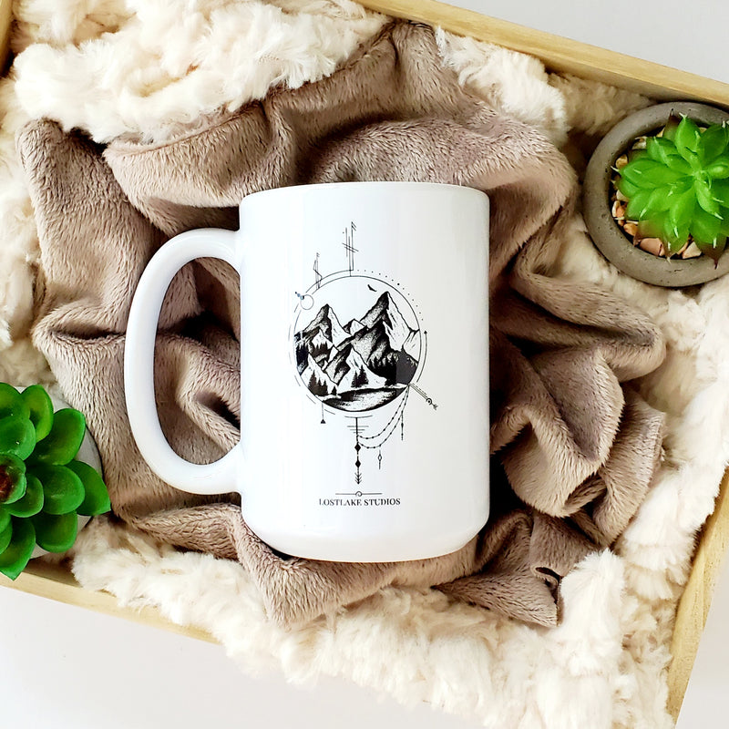 Mountain Flight Ceramic Mug
